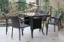Комплект: стол разборной (1200мм.) и 4 стула с подлокотниками 0