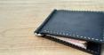 Черный зажим для денег с двумя внутренними карманами для кредиток Mr.Falke 8