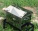 Коптильня горячего копчения из нержавейки с термометром (400х300х310) крышка