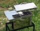 Коптильня горячего копчения из нержавеющей стали (400х300х310) крышка