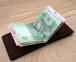 Коричневий зажим для грошей із зовнішніми кишенями Mr.Falke 2
