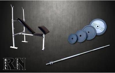 Скамья для жима универсальная Rn-Sport с приставкой Скотта + Штанга 72 кг
