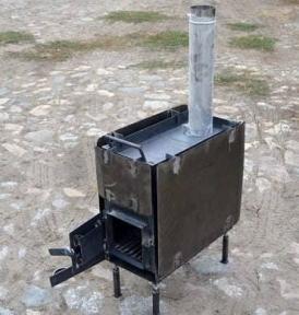Печь для мобильной бани Троян