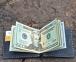 Коричневый зажим для денег с отделением для кредиток Mr.Falke 4