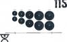 Скамья для жима Rn-Sport 3090 + Стойки для приседаний 40S + Штанга 115 кг + EZ-гриф + Гантели по 16 кг 0