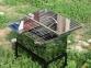 Коптильня горячего копчения из нержавеющей стали (520x300x280) с термометром 7