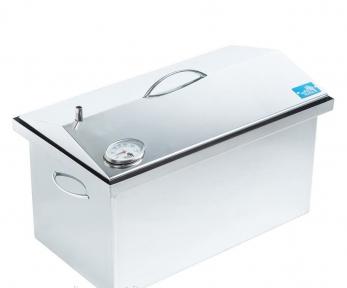Коптильня горячего копчения с термометром (520х300х310) крышка