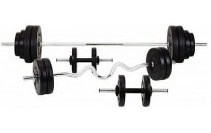 80 кг Штанга Rn-Sport + гантели ABS покрытие