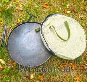 Сковорода з диска борони 50см з кришкою і чохлом в комплекті