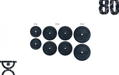 Набор блинов 80 кг Rn-Sport (2x5, 4x10, 2x15)