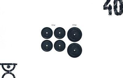 Набор дисков 40 кг Rn-Sport (4x5 и 2x10)