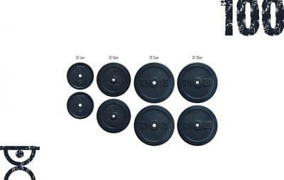 Набор блинов 100 кг Rn-Sport (2х5, 2х10, 2х15, 2х20)