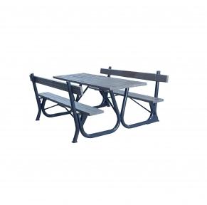 Садовый стол с лавками Silver Rud