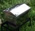 Коптильня гарячого копчення з нержавійки з термометром (400х300х310) кришка